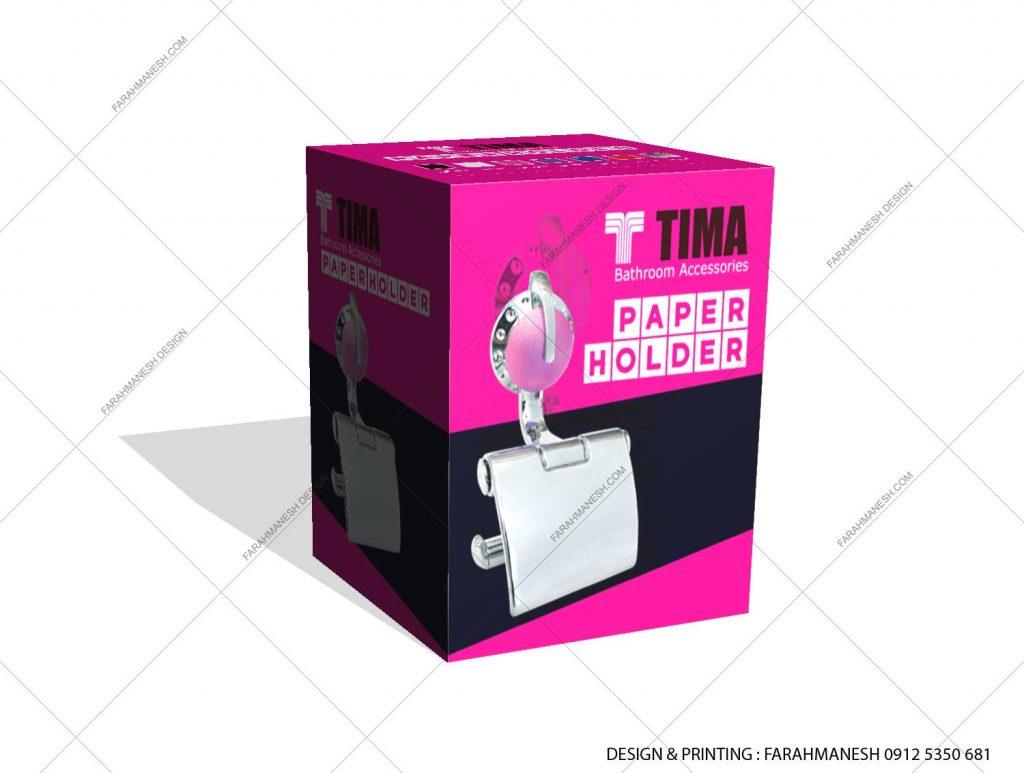 طراحی و چاپ کارتن (جعبه) جادستمال کاغذی تیما
