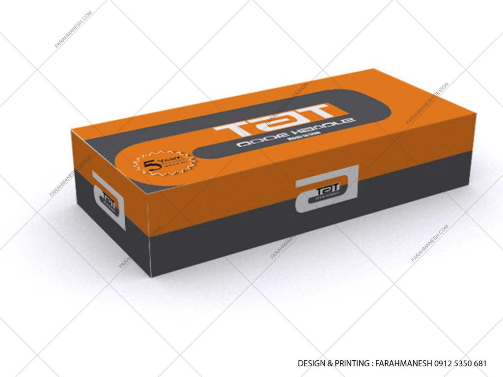 طراحی و چاپ کارتن (جعبه) دستگيره درب تات