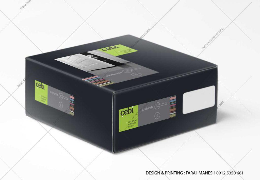 طراحی و چاپ کارتن (جعبه) دستگيره درب رزتی دبيت