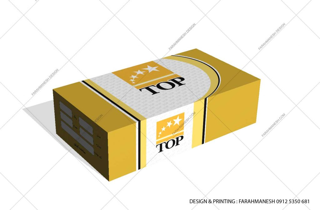 طراحی و چاپ کارتن (جعبه) دستگيره کابينت تاپ