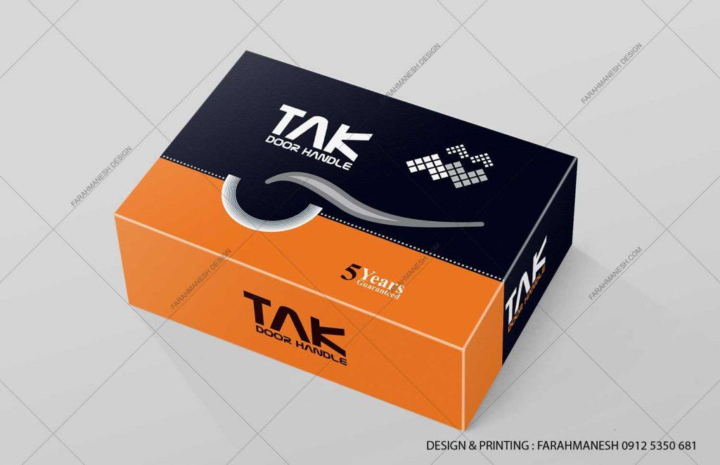 طراحی و چاپ کارتن (جعبه) دستگیره درب رزتی تک