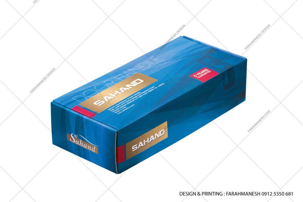 طراحی و چاپ کارتن (جعبه) دستگیره درب سهند