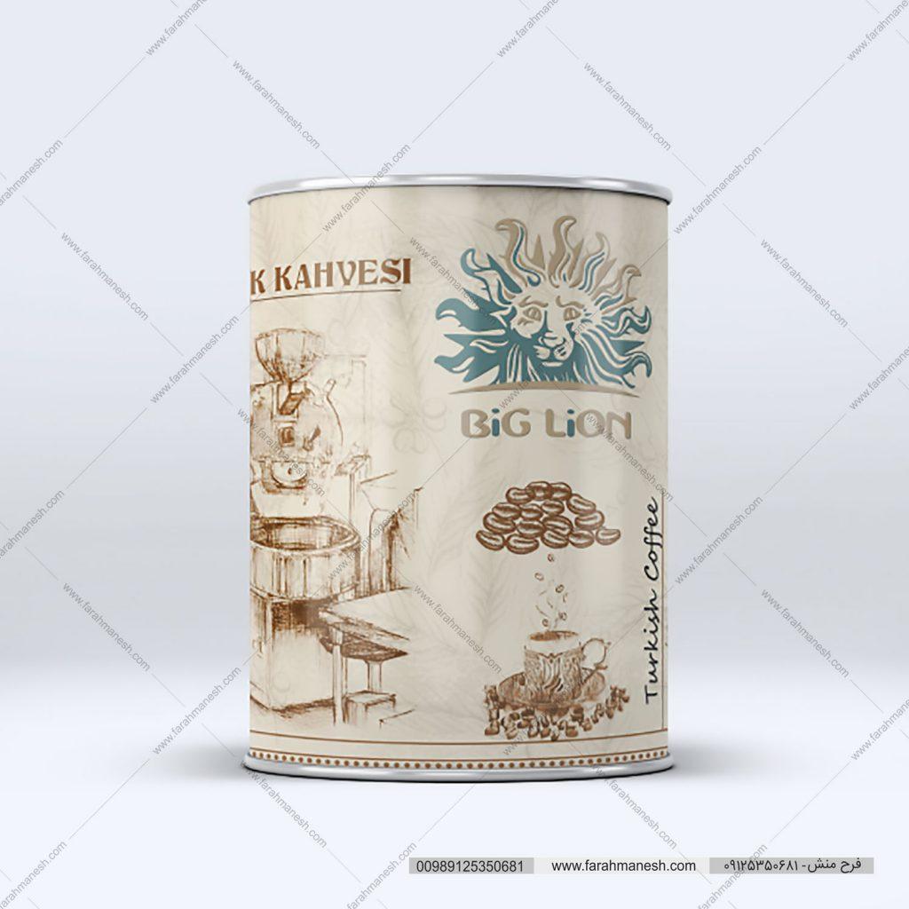 طراحی بسته بندی قوطی قهوه کرج قوطی فلزی چاپ روی قوطی فلزی قهوه