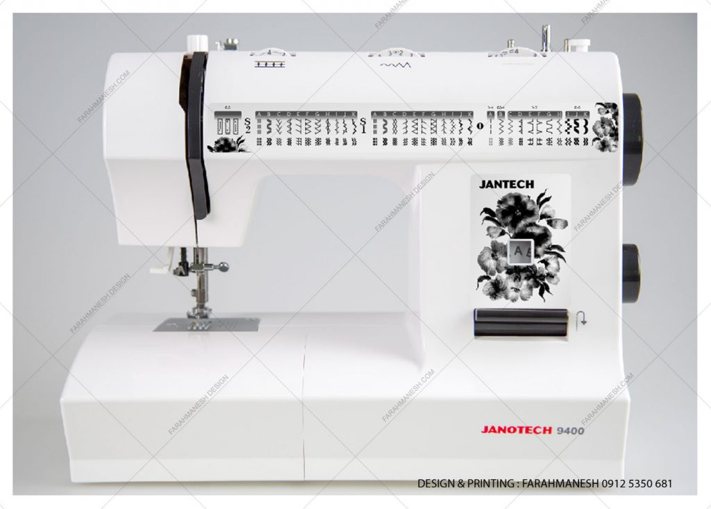 طراحی و چاپ لیبل چرخ خیاطی ژانومه
